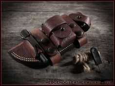 Leather Sheath For The ESEE-5 Survival Knife - Hedgehog Leatherworks