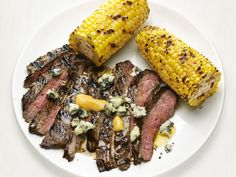Buffalo-Style Skirt Steak and Corn recipe from Food Network Kitchen via Food Network