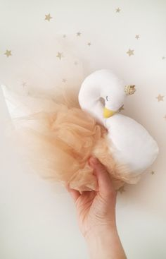 Stuffed swan decor for Kids interior and nursery rooms cygne