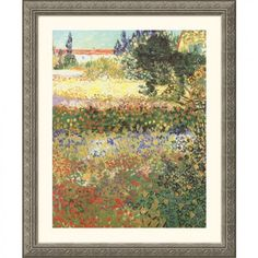 Great American Picture Flowering Garden Silver Framed Print - Vincent van Gogh - 37957-Silver