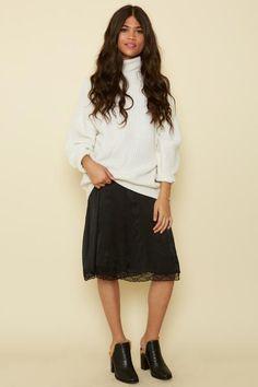 BLQ BASIQ Ivory Turtleneck Sweater / Prism Boutique