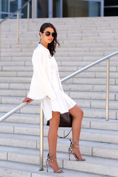 VIVALUXURY - FASHION BLOG BY ANNABELLE FLEUR: TAILORED EYELET & NEW FAVORITES FROM FERRAGAMO BUCKLE COLLECTION