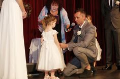 """Beautiful blended family vows: """"Esther, Thank you for having such a beautiful heart and for sharing your mummy with me. I am honoured to be your stepdad. Please accept this necklace as a sign of my promise to be the best stepdad that I can be, to love you as you are, and to show you kindness now and forever."""" More here: http://offbeatbride.com/blended-family-wedding-vows"""