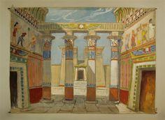"""Hintergrund - Ägyptischer Tempel für """"Die Zauberflöte"""""""
