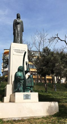 Pauline Elisabeth Ottilie Luise zu Wied (1843-1916) was queen of Romania and well-known under pseudonym Carmen Sylva as a writer and poet, Constanța Romania March 2020 Constanta Romania, Writers And Poets, Statue Of Liberty, March, Queen, Travel, Liberty Statue, Voyage, Show Queen
