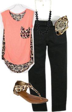 Love the shirt cheetah print