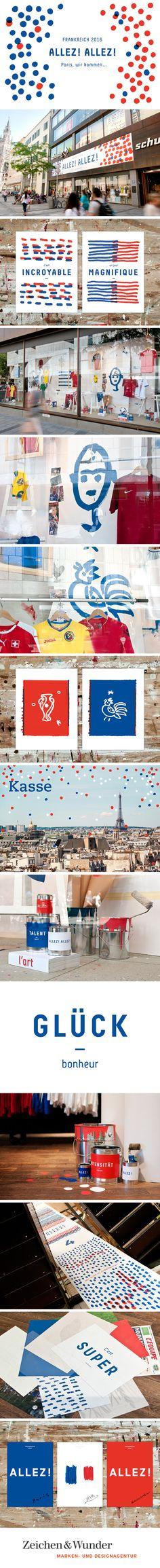 SPORTHAUS SCHUSTER / Aktion zur Europameisterschaft 2016 / #europe # football #france / by Zeichen & Wunder, München