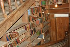 """""""When Dr Bell and Trinity's Sub-Librarian Sandy Paul visited West Horsley Place they were amazed by what they found. 'There were books everywhere, shelved to the ceiling in most rooms and in piles on the floor'. Trinity Library, Shelving, Bookcase, December, Ceiling, Rooms, Flooring, Places, Home Decor"""