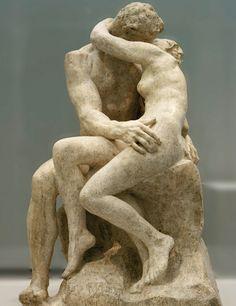 `El beso´de Rodin, inspirada por el apasionado amor de Francesca da Rimini y Paolo Malatesta.