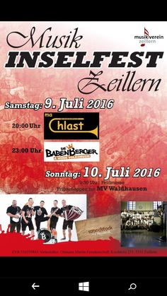 Die Babenberger - A wüde Volksmusik am Musik Insel Fest in Zeillern 2016 www.diebabenberger.at Pandora, Live, Island