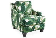 Java Chair, Blue/Ivory | One Kings Lane