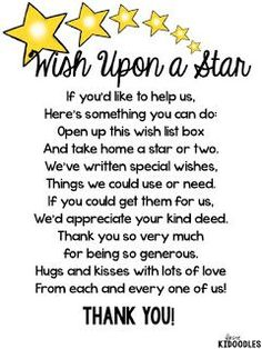When You Wish Upon a Star {A Beginning of the Year Classroom Wishlist FREEBIE}