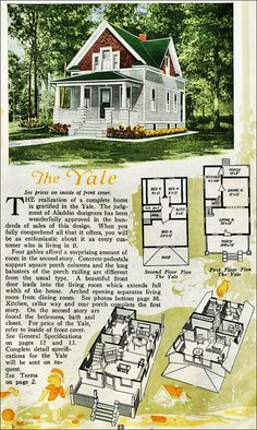 the yale kit house floor plan made by the aladdin company in bay city michigan in