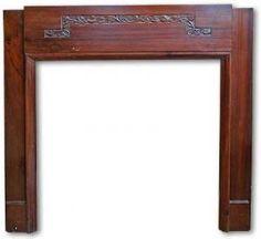 1930s Walnut Fireplace Mantel