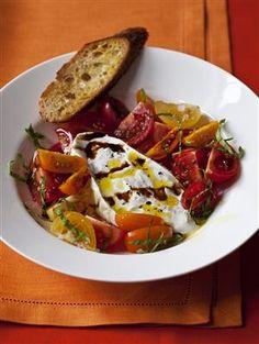 Ina's tomato burrata salad