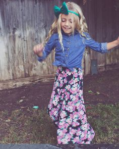 Our girls maxi skirt is perfect for the little lady who might like the idea of spending all day in her pajamas, but still likes to look trendy! This skirt gives them the comfort and versatility that every little one looks for to be able to enjoy their play dates and car rides!