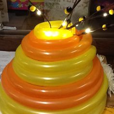 Beehive made from balloons very cool
