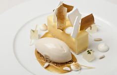 Lemon meringue pie with pine nut ice cream - Simon Haigh