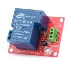 1-Channel 5V 30A High-Power Relay Module for Arduino. The item is a 5V 1-channel relay interface board and it can be controlled directly by a wide range of microcontrollers such as Arduino, AVR, PIC, ARM and so on. - 1-Channel Relay interface board - Equipped with high-current relay : DC 30V, AC 250V, 30A - Standard interface that can be controlled directly by microcontroller (Arduino, 8051, AVR, PIC, DSP, ARM). Tags: #Electrical #Tools #Arduino #SCM #Supplies #Relays