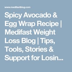 Spicy Avocado & Egg Wrap Recipe | Medifast Weight Loss Blog | Tips, Tools, Stories & Support for Losing Weight
