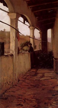 Lluvia de invierno, par Santiago Rusiñol (1889)