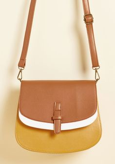 I Keep Latte Hours Bag in Goldenrod - Yellow, Brown, Work, Casual, Colorblocking, Spring, Good