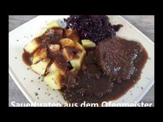 Sauerbraten aus dem Ofenmeister, Pampered Chef®, Thermomix ® - YouTube Steak, Beef, Youtube, Food, Pampered Chef Recipes, Easy Meals, Thermomix, Meat, Eten