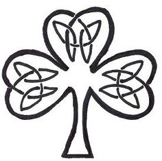 Free Celtic Knot Shamrock Gallery  Patterns 4