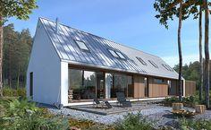 Odważny 2 - wizualizacja 4 - niewielka nowoczesna stodoła z wiatą