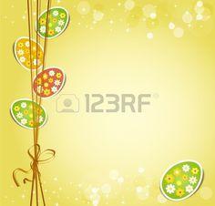 arrière-plan avec la fête de Pâques des oeufs Banque d'images - 11906901