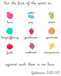 my fruits of the spirit print for the kitchen :)