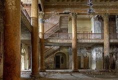 Abandoned hotel lobby in Pennsylvania.  What a grand place this must have been in its prime.