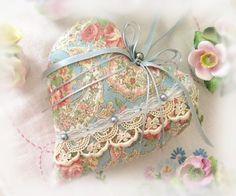 Heart Ornament 7 inch Door Hanger Heart Soft por CharlotteStyle