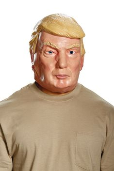 The Donald Trump Vacuform Election Half Mask is a perfect accessory for your Halloween costume this year. Accessorize your costume with our exclusive props, decorations, wigs and many more at Costume SuperCenter. Set your costume above the rest!