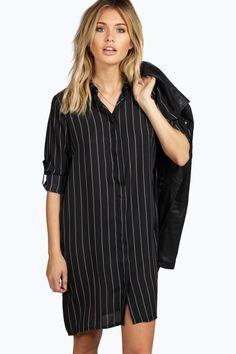 Belle Striped Shirt Dress