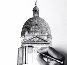 Minty Sainsbury .Gorgeous, Photorealistic Architectural Drawings Of Famous European Landmarks - DesignTAXI.com