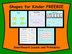 Shapes for Kinder Interactive Smartboard FREEBIE by Carmela Fiorino Vieira Kindergarten Freebies, Kindergarten Teachers, Elementary Teacher, Free Teaching Resources, Teaching Math, Teacher Resources, Teaching Ideas, Interactive Whiteboard, How To Get Followers