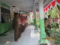 scout in ceremony