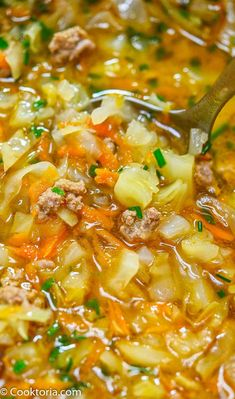 This Turkey Cabbage Soup is a delicious Asian-inspired dish that will warm you from the inside out. Flavorful and full of tender veggies and turkey, it's savory with just a touch of heat.