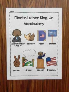 Martin Luther King activity