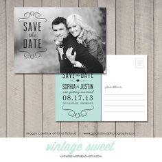 Save the Date Card / Magnet / Postcard (Printable DIY) by Vintage Sweet Design On Etsy  {$12.00}   vintagesweetdesign.etsy.com