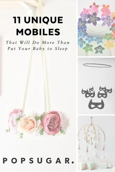 Mobiles aren't just good pretty: they help your baby's brain develop. Be inspired by these gorgeous mobiles. #nursery #nurseryinspiration