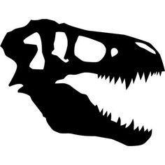craneo de t-rex stencil