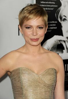 michelle williams pixie cut. (love the color, wish I had the right hair for the cut)