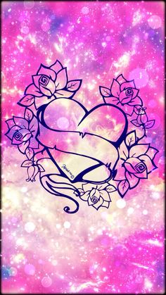 © 2017 Galaxy Heart Roses Created By Me Unicorn Wallpaper Cute, Cute Wallpaper For Phone, Glitter Wallpaper, Music Wallpaper, Heart Wallpaper, Butterfly Wallpaper, Cute Wallpaper Backgrounds, Love Wallpaper, Cellphone Wallpaper