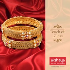 Designed for your beautiful arms with a touch of class. #akshayagold #bangles #gold
