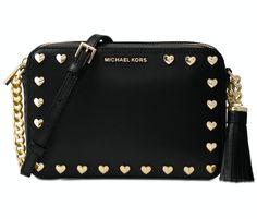 9bf0adfe37db Michael Kors Ginny Studded Medium Camera Bag Black NWT  MichaelKors   Crossbody Designing Women