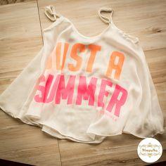 Just a summer.  Blusa de alcinha da Authoria.  #alcinha #authoria #neoncolor #neon #transparencia
