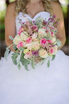 yellow and pink bridal bouquet http://www.weddingchicks.com/2013/11/21/oregon-wedding/