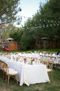 backyard wedding reception - photo by Zoom Theory http://ruffledblog.com/intimate-backyard-wedding-in-malibu
